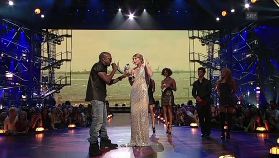 Kanye West unterbricht die Dankesrede