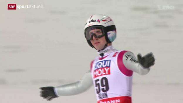Video «Skispringen: WM in Falun, Qualifikation auf der Normalschanze» abspielen