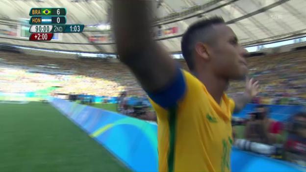 Video «Neymar setzt per Elfmeter den Schlusspunkt» abspielen