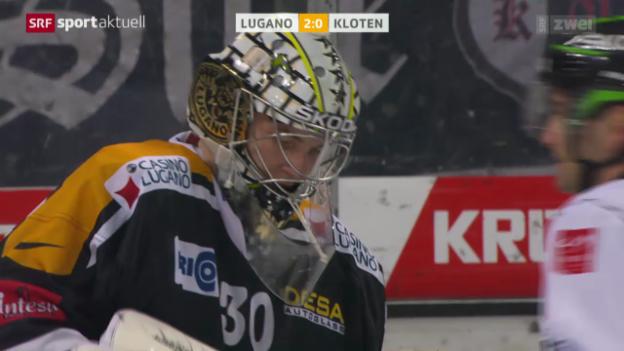 Video «Eishockey: NLA, Lugano - Kloten» abspielen