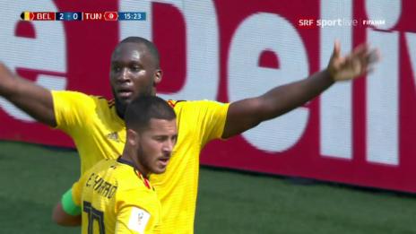 Link öffnet eine Lightbox. Video Live-Highlights Belgien - Tunesien abspielen
