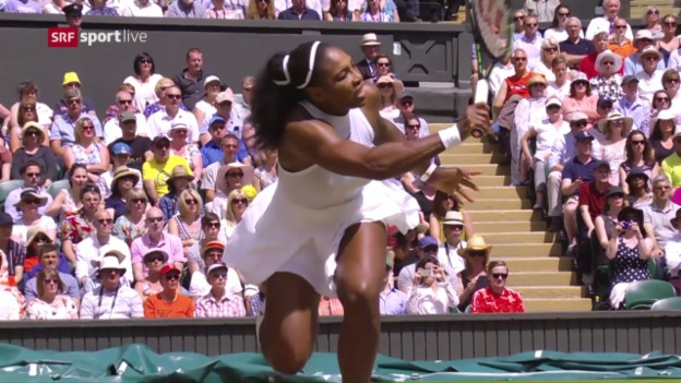 Video «S. Williams fegt Wesnina vom Platz» abspielen