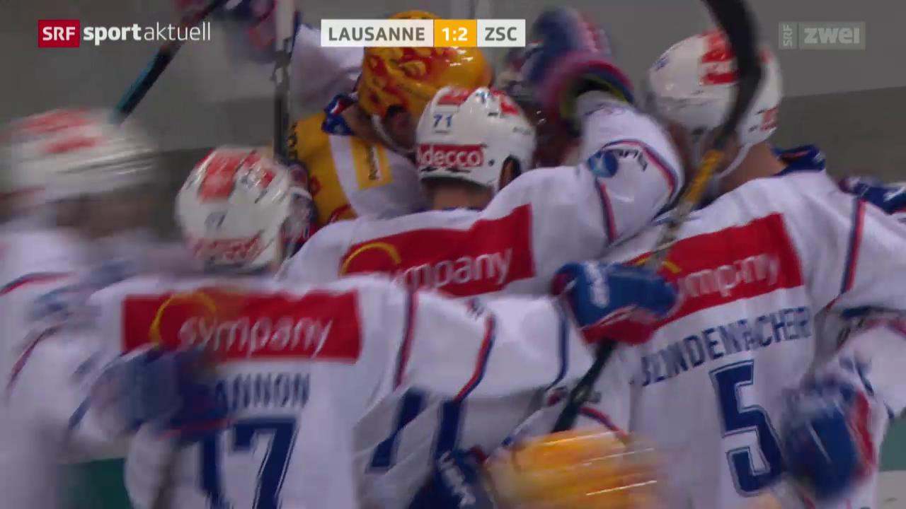 Eishockey: NLA, Lausanne - ZSC
