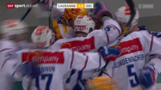 Video «Eishockey: NLA, Lausanne - ZSC» abspielen