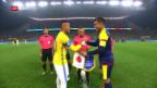 Video «Brasilien schlägt Kolumbien und steht im Halbfinal» abspielen