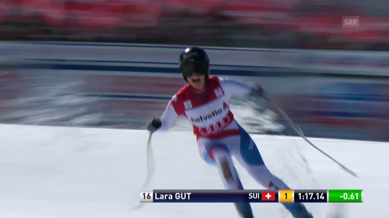 Ski Alpin: Super-G Frauen auf der Lenzerheide, die Siegesfahrt von Lara Gut («sportlive», 13.3.2014)