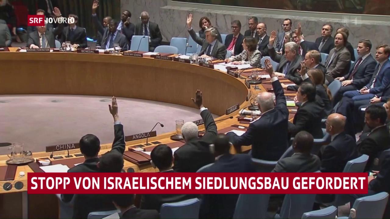 UNO-Sicherheitsrat verurteilt Siedlungspolitik