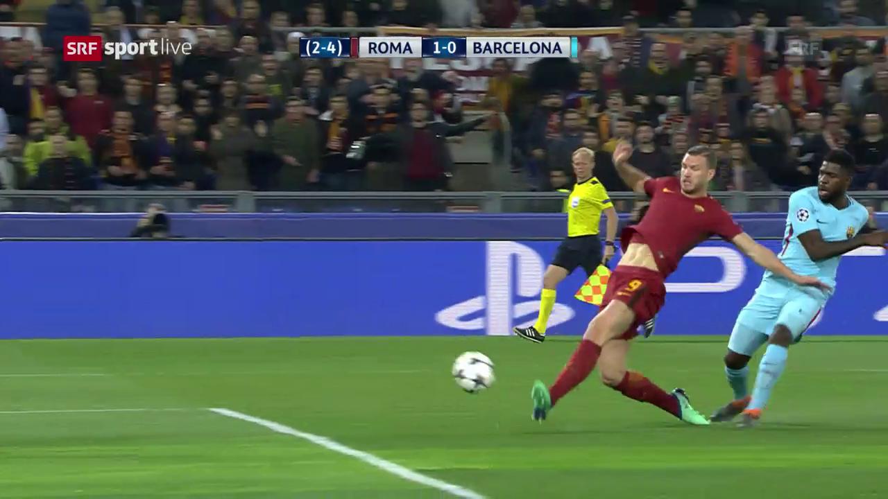 Dzekos Treffer gegen Barcelona