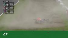 Video «Formel 1: GP von Japan in Suzuka, Qualifying, Ausfall Daniil Kwjat» abspielen
