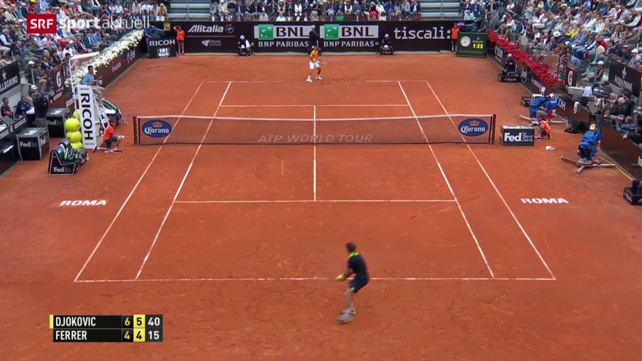 Tennis: Djokovic - Ferrer