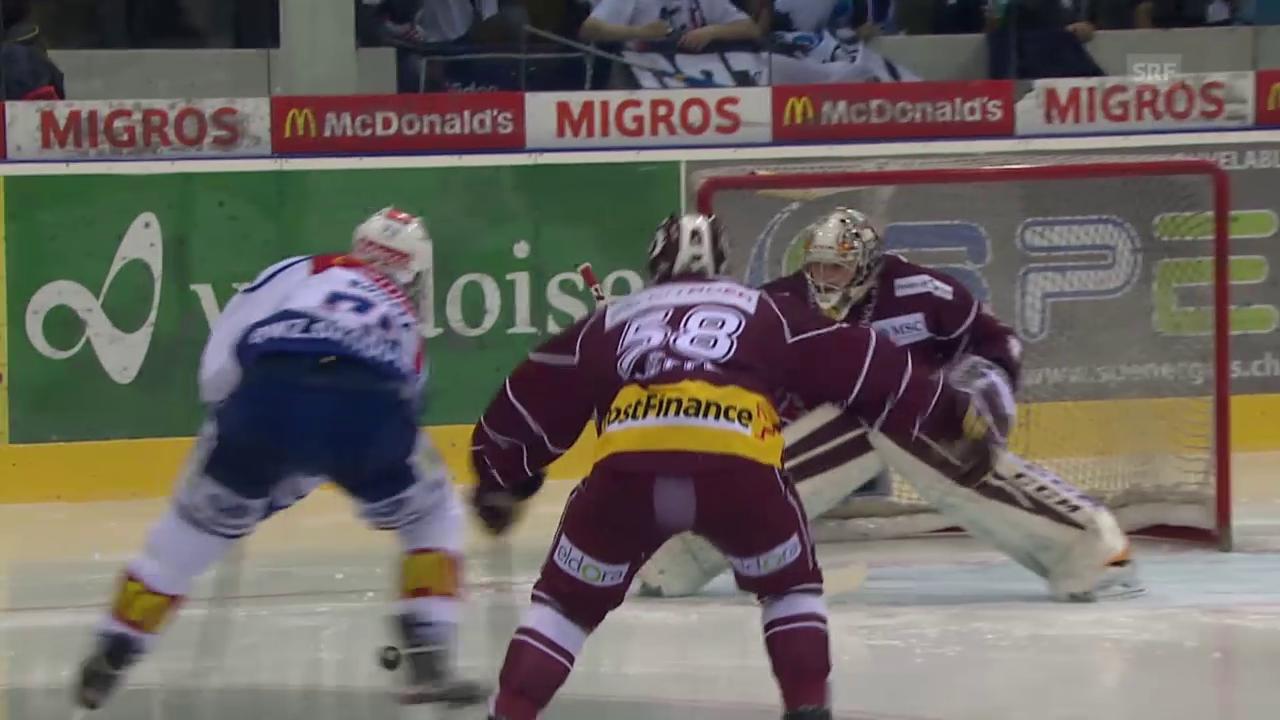 Eishockey: Playoffs 2015, 6. Halbfinal Genf-ZSC, 1:2 Mike Künzle