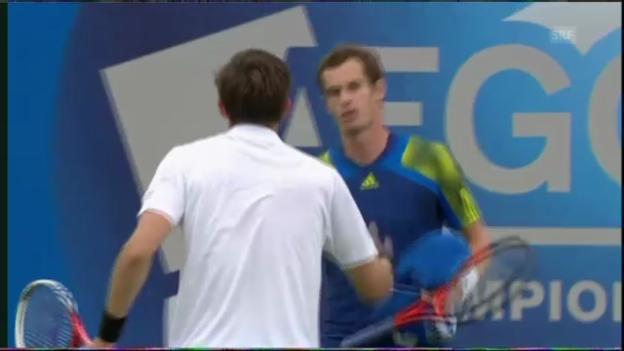 Video «Tennis: Murrays Matchball gegen Mahut» abspielen