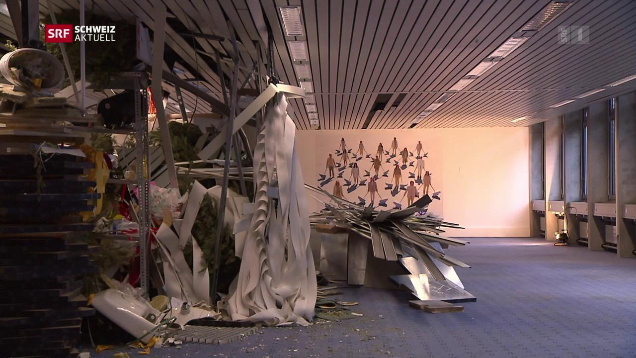 Abbruchhaus als Kunstprojekt