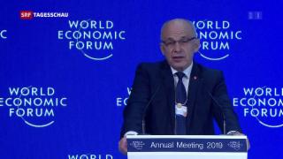 Video «Bundespräsident Ueli Maurer eröffnet das WEF» abspielen