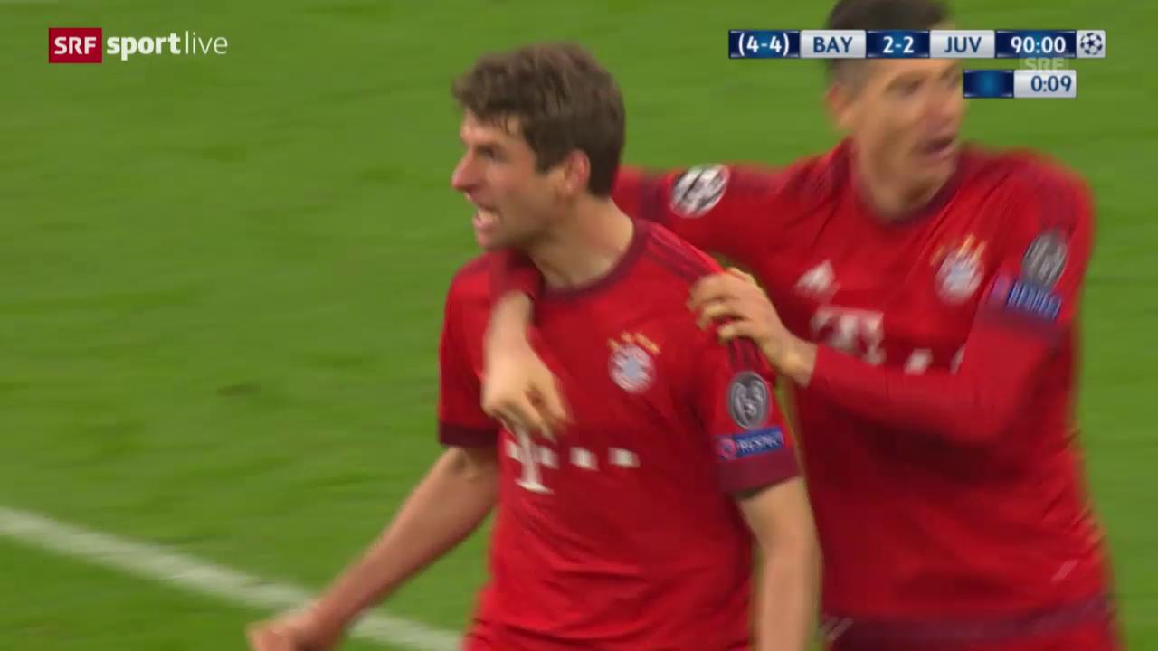 Live-Highlights der Partie Bayern - Juventus