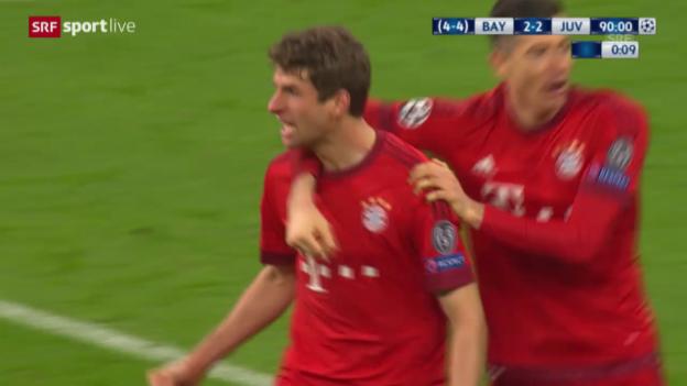 Video «Live-Highlights der Partie Bayern - Juventus» abspielen