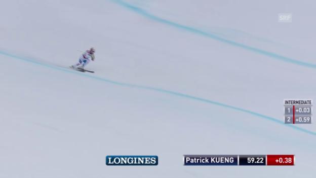 Video «Ski Alpin: Weltcup Garmisch, Abfahrt, Fahrt Küng» abspielen