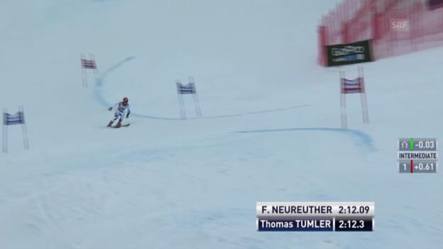 Video «Ski: Der 2. Lauf von Thomas Tumler im RS von Beaver Creek» abspielen