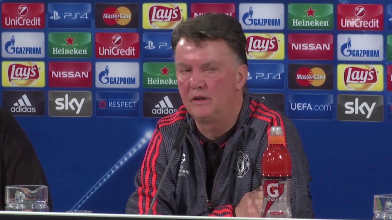 Fussball: Chmpions League, Wolfsburg-Manchester Unied, Pressekonferenz Van Gaal