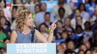 Video «USA: Wikileaks entlarvt parteiische Parteispitze der Demokraten» abspielen