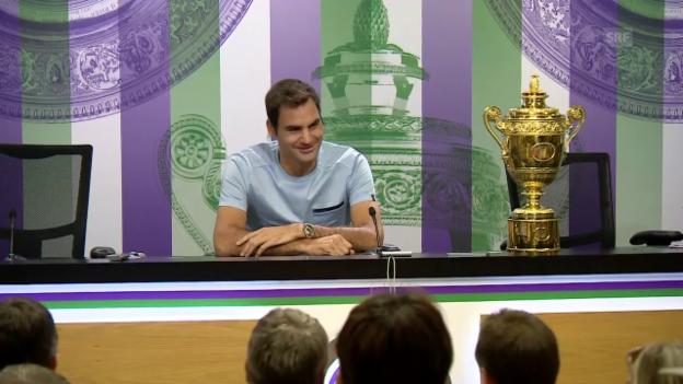 Video «Federer am Tag nach dem Triumph» abspielen
