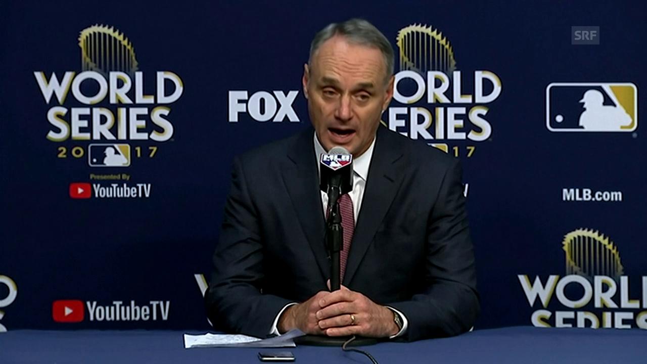 MLB-Commissioner Rob Manfred begründet die Strafe