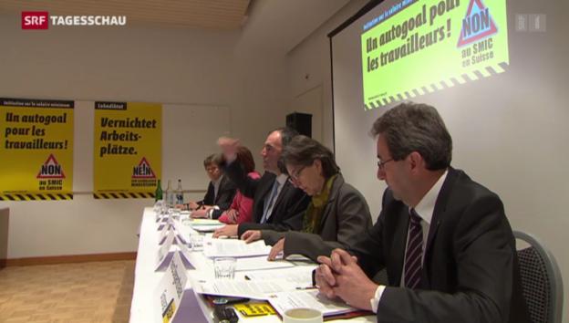 Video «Der Abstimmungskampf um den Mindestlohn ist lanciert» abspielen