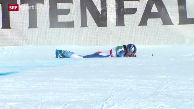Video «Ski: Dominique Gisins Leidensweg zu Olympia-Gold» abspielen