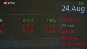 Video «FOKUS: China bringt Börsen weltweit zum Zittern» abspielen