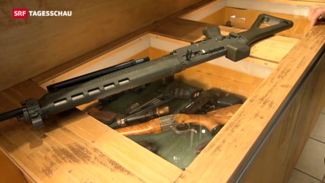 Debatte über Waffenregister