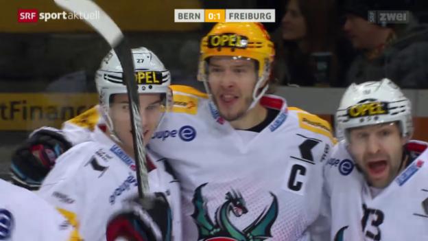 Video «Freiburg macht in Bern wichtigen Schritt Richtung Playoff-Qualifikation» abspielen