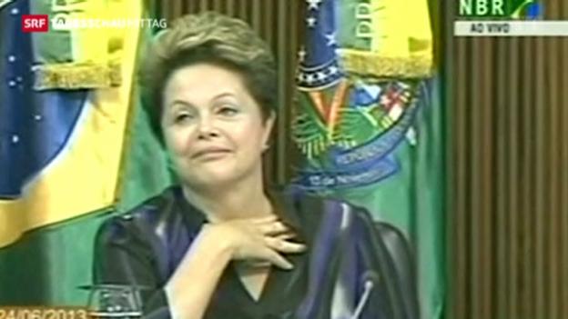 Video «Brasiliens Präsidentin will Politikreform» abspielen