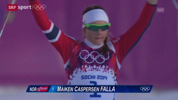 Video «Langlauf: Zusammenfassung Sprint Frauen («sotschi aktuell», 11.02.2014)» abspielen