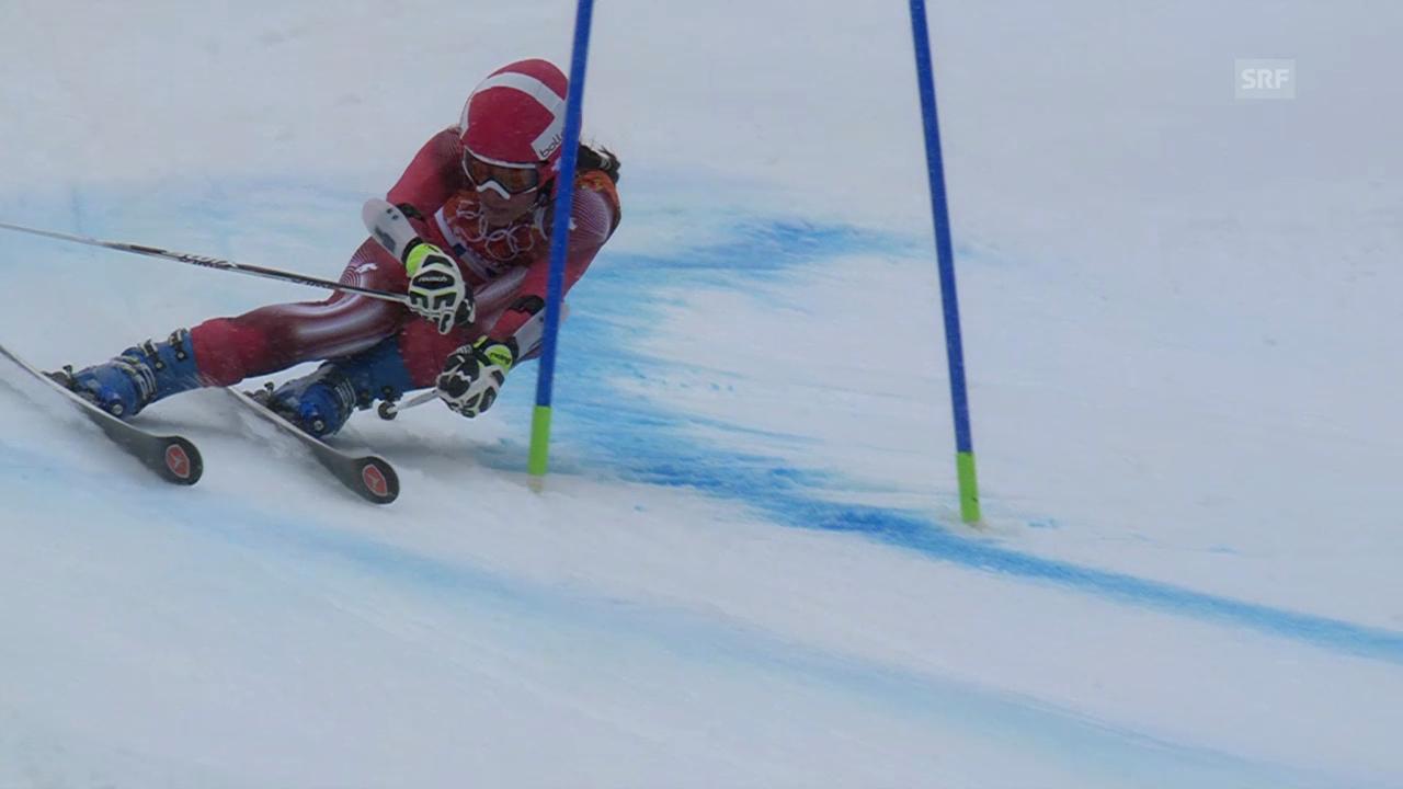 Ski: Riesenslalom Frauen, 2. Lauf Gisin (sotschi direkt, 18.2.2014)