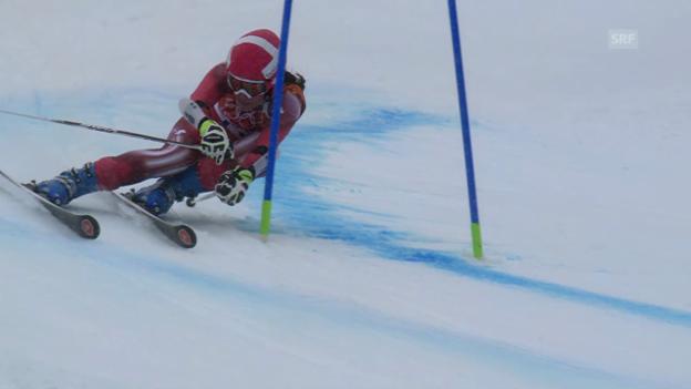 Video «Ski: Riesenslalom Frauen, 2. Lauf Gisin (sotschi direkt, 18.2.2014)» abspielen