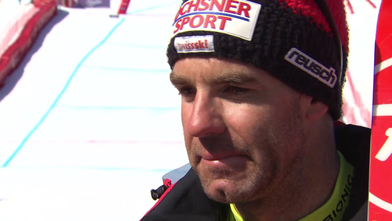 Ski: Super-G Männer in Méribel, Interview mit Défago
