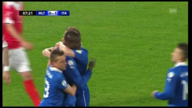Fussball: WM-Qualifikation, Tore Malta-Italien