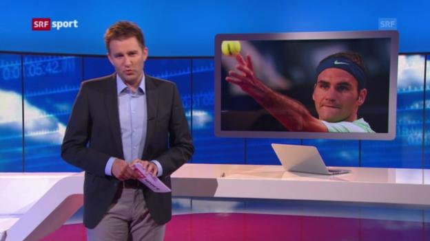 Video «Federer tritt in Hamburg an («sportaktuell»)» abspielen