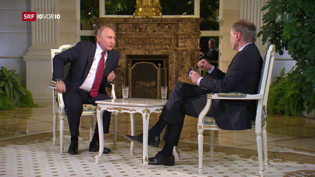 Wladimir Putin empfängt den ORF