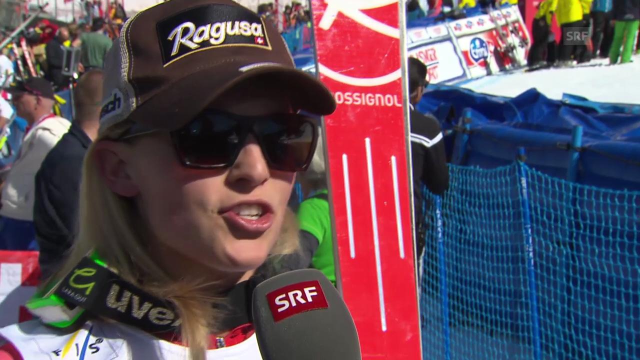 Ski Alpin: Super-G Frauen auf der Lenzerheide, Interview mit Lara Gut («sportlive», 13.3.2014)