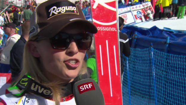 Video «Ski Alpin: Super-G Frauen auf der Lenzerheide, Interview mit Lara Gut («sportlive», 13.3.2014)» abspielen