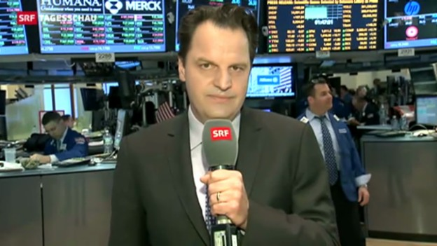 Video «Dow-Jones-Index erreicht 15'000er Marke» abspielen