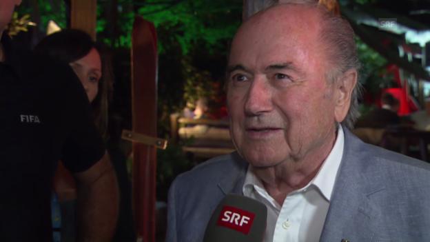 Video «FIFA WM 2014: Blatter zieht Bilanz» abspielen
