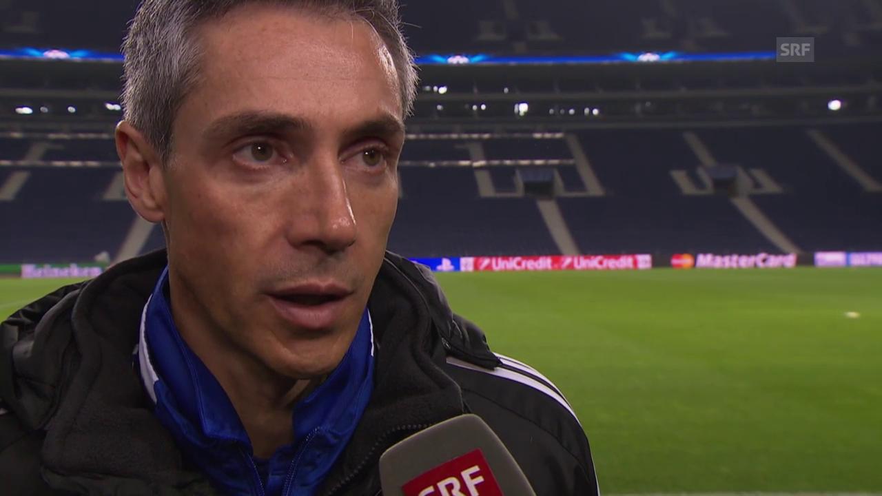 Fussball: CL-Achtelfinal Porto - Basel, Interview mit Paulo Sousa vor dem Rückspiel (englisch)