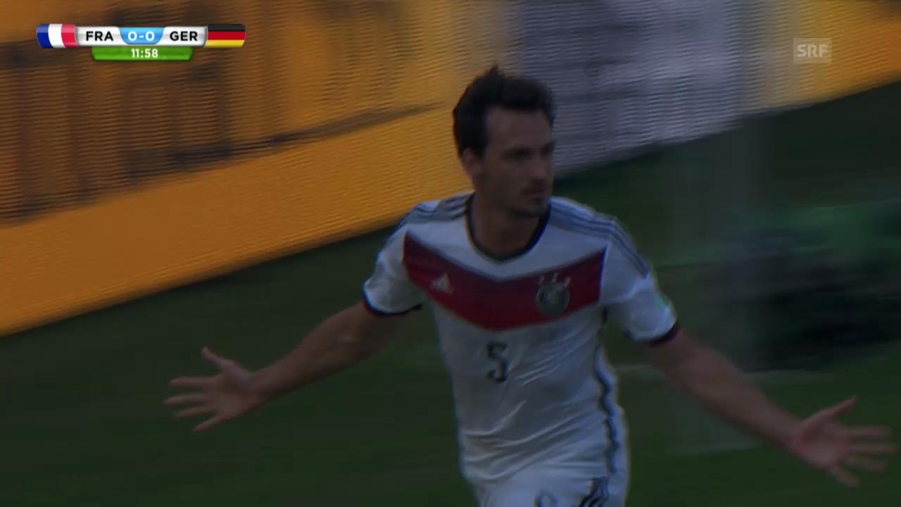 Fussball: WM 2014, Halbfinal Frankreich-Deutschland, Szenen von Mats Hummels
