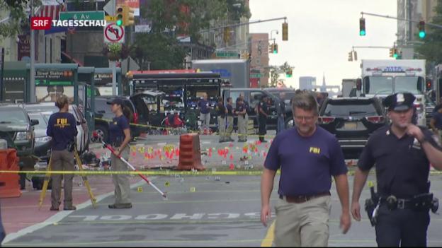 Video «Explosion in New York: Keine Hinweise zu internationalem Terror» abspielen