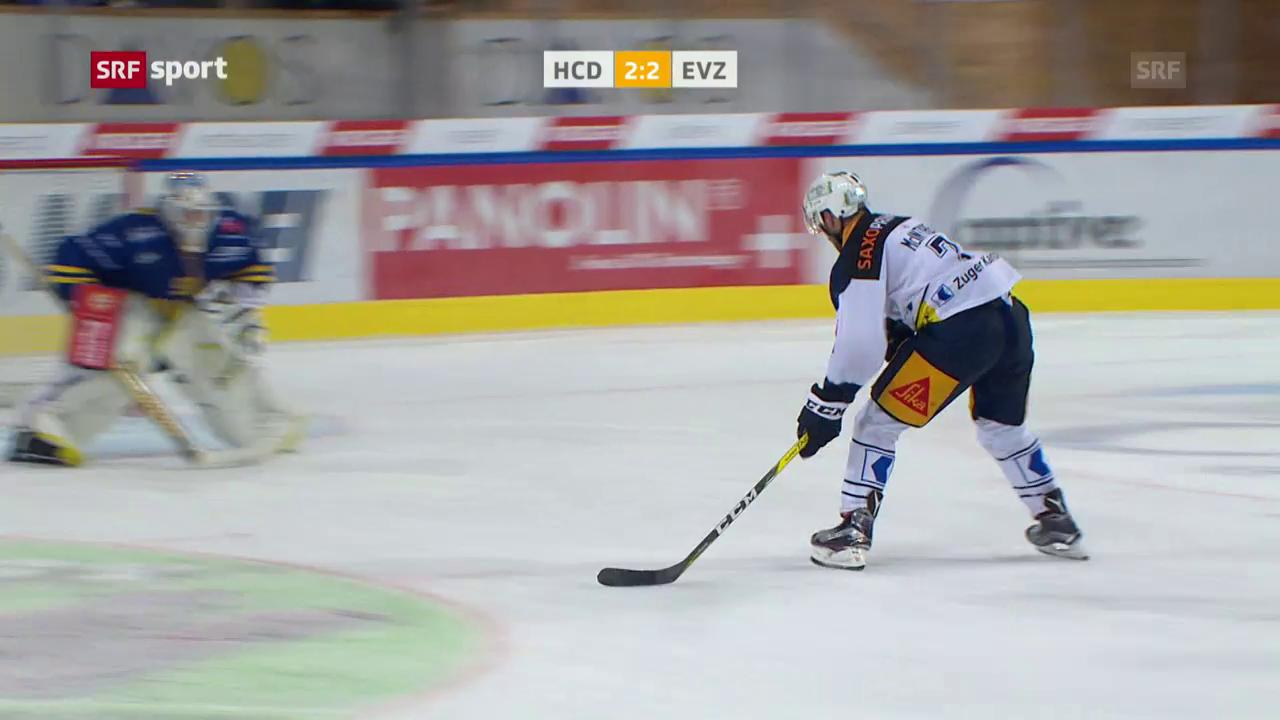 Zug gewinnt Halbfinal-Reprise in Davos