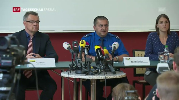 Video «Einsatzleiter: «Wir haben keine Ahnung, wo der Mann derzeit ist»» abspielen