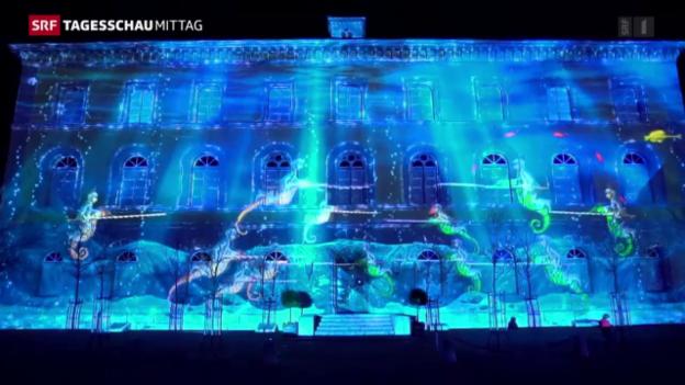 Video «Wunderbares Lichtspektakel in Murten» abspielen
