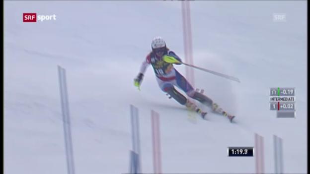 Video «Ski: Slalom Frauen in Maribor («sportpanorama»)» abspielen